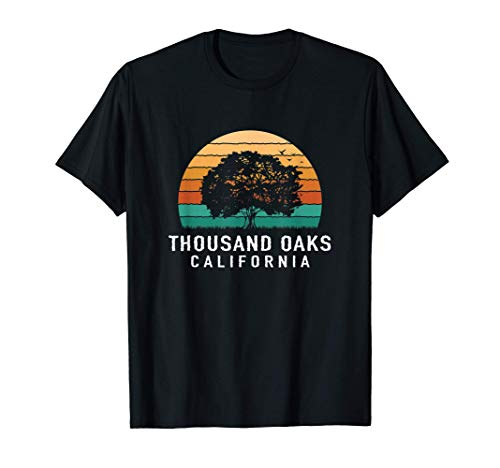 Thousand Oaks Vintage Sunset California Souvenir T-Shirt