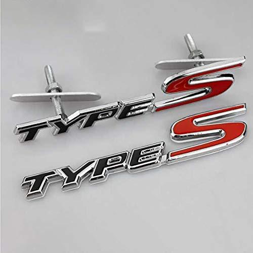 NA 2 Piezas Tipo S Grill + Emblema de la Insignia Trasera Accesorios de diseño de la Etiqueta engomada del Coche para Honda Civic Integra FN2 EP3 EK 42bs