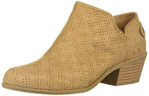 Dr. Scholl's Shoes Women's Bandit Ankle Boot, Nude Microfiber Perforated, 10 W US