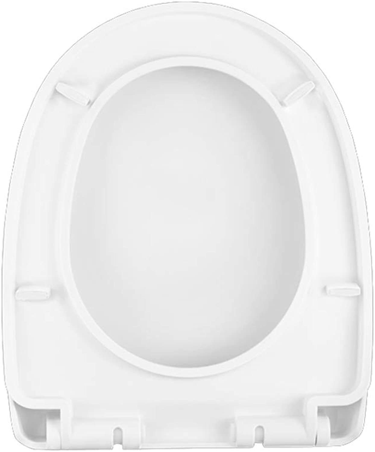 Yxsd Thickened Toilet Seats Cover Plate,V U-shaped Toilet Seat Heavy Duty Soft Close White - Easy Inssizetion (Size   U-shaped)
