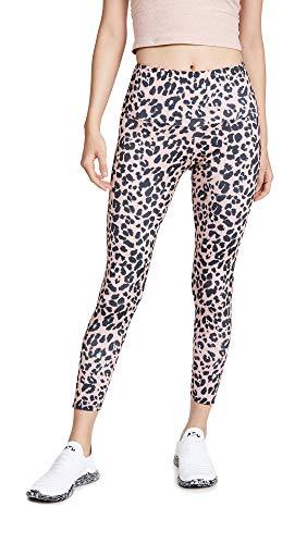 Onzie Damen High Rise Midi Leggings, Rose Leopard, X-Groß