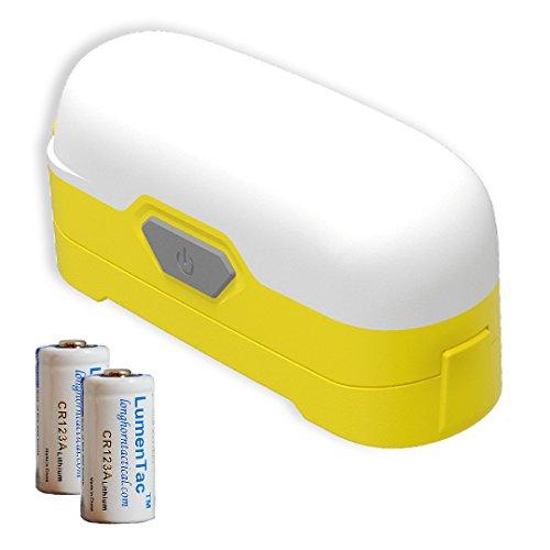 Nitecore LR30 205 Lumen Mini LED Camping Lantern - True Color Rendering Including 2X LumenTac CR123A Batteries (Yellow)