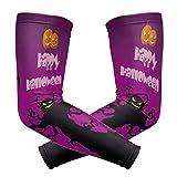 SENNSEE Happy Halloween Bat Tree Brazo Manga Protección UV Enfriamiento Baloncesto Béisbol Running Golf Deportes Para Hombres Mujeres Juveniles