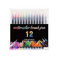 マーカー ギフトカードライティング描画クリエイティブアートマーカー12/20カラーマーカーメタリックマーカーライトの色のマーカーペン 塗り絵 描画 落書き 学習用 (Size : 12colors)