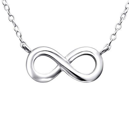 Laimons Collar para mujer Símbolo del infinito Brillante Plata de ley 925