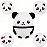 5 Pieces Squishy Panda Fidget Toys Slow Rising Panda Fidget Toys Kawaii Soft and Scented Pinch Panda Ball Lovely Stress Relief Toy for Adults Teens Presents, 1 Big Size with 4 Small Size Panda