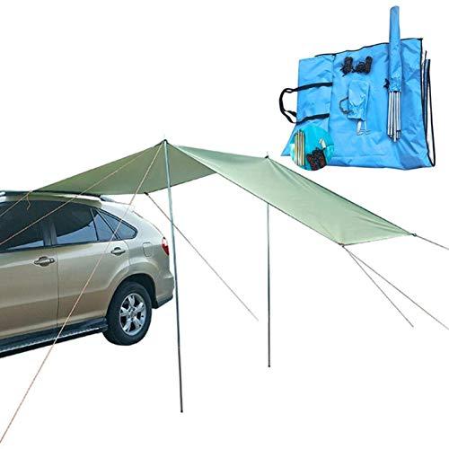 Outdoor Car Awning Waterproof Large Sunshade Garden Beach Umbrella Travel Camping Tent Tarp Automobile Side Rooftop Rain Canopy