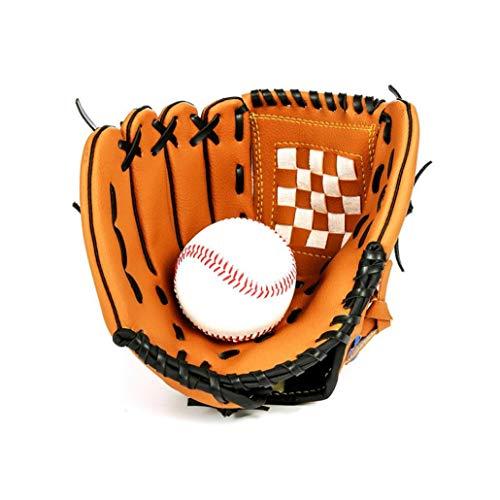 Cuero Guante de béisbol de Primera Calidad Deportes teeball Guante y Pelota de Softbol manopla Mitt para Niños y Jóvenes