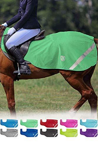 Harrison Howard Climax Ausreitdecke Sattelausschnitt Nierendecke Hohe Sichtbarkeit wasserdicht (S (125cm), Sommergrün)