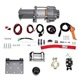 Cabrestante eléctrico de coche para coche, yate, ATV, camión, barco, remolque, bicicleta cuádruple, 3600LB, 12 V, material de cobre y hierro