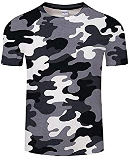 HPXCAZ Newest 3D Printed T-Shirt Ink Draw Pattern Short Sleeve Summer Casual Tops Tees Fashion O-Neck Tshirt Male (Color : T715, Size : XXS)