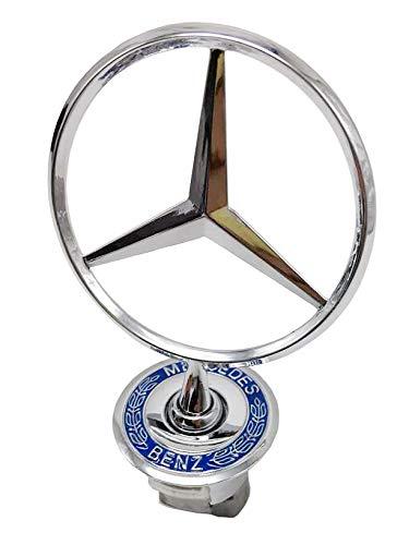 3D Emblem Car Logo Front Hood Ornament Car Cover Chrome Eagle Badge For Mercedes benz (Wheat Ears)