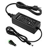 ALITOVE 24V DC Power Supply 2A 48W AC/DC Adapter 100~240V AC to DC 24 Volt 2 Amp Converter 24 vdc 2000mA 1.8A 1.5A 1.3A 1.2A with 5.5mmx 2.5mm 2.1mm Plug for LED Strip Light CCTV Camera DC Pump Fan