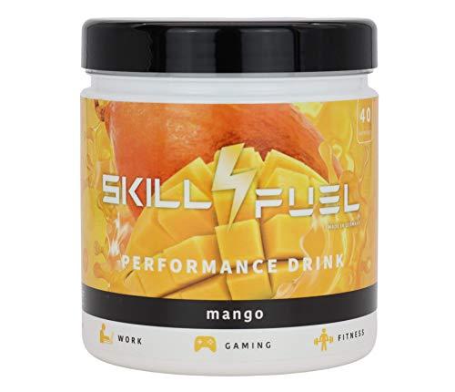 Skill4Fuel® | Performance Drink | 2 Phasenwirkung | NewCaff & Koffein | mit Nootropica | 400g | 80 Scoops (Mango)