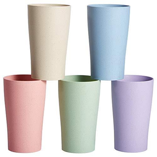 Parboom Tasse Becher Unzerbrechliche Tessen Bunte Teetasse Trinkbecher für Wasser Kaffee Milch Saft Mikrowellen...