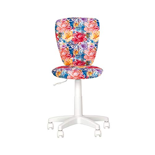 POLLY- Sedia da Ufficio per bambini. Sedia da scrivania Girevole. Regolabile in Altezza, Sedile Imbottito, Sedia ergonomica.