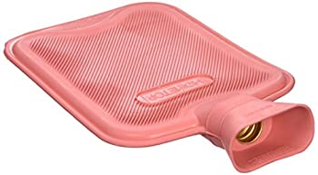 HomeTop Premium Classic Rubber Hot Water Bottle Great for Pain Relief Hot and Cold Therapy  2 Liters Red