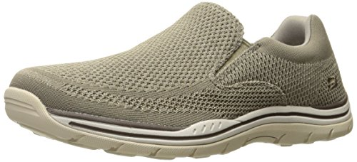 Skechers USA Men's Expected Gomel Slip-on Loafer,Taupe,12 M US