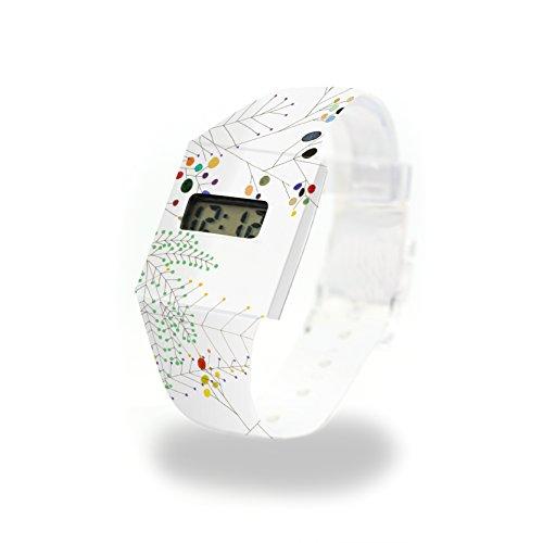 HAPPY FERN - Pappwatch - Paperwatch - Digitale Armbanduhr im trendigen Design - aus absolut reissfestem und wasserabweisenden Tyvek® - Made in Germany , absolut reißfest und wasserabweisend