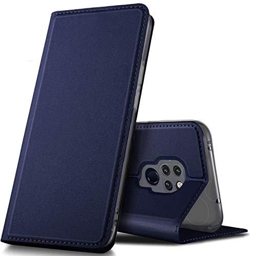Verco Handyhülle für Mate 20, Premium Handy Flip Cover für Huawei Mate 20 Hülle [integr. Magnet] Book Hülle PU Leder Tasche, Blau