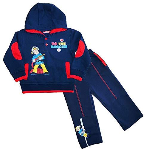 Baby Jogginganzug | Feuerwehrmann Sam | Größe 62-86 | Jungen Jogger, Farbe:Blau, Größe:80