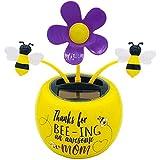 WINBST Bobble - Figura de flor, flor solar danzante, decoracin de figuras divertidas, juguetes elctricos para nios, coche, hogar u oficina