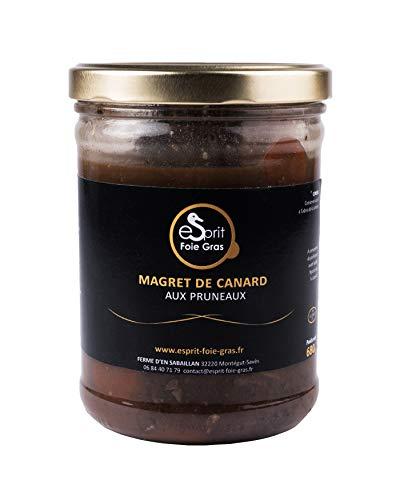 Esprit Foie Gras - Magret de canard aux pruneaux - 650 G - Conserverie familiale du Gers - Plat cuisiné pour 2 personnes - Canard élevé et transformé dans le Gers - Terroir et gastronomie du Sud-Ouest
