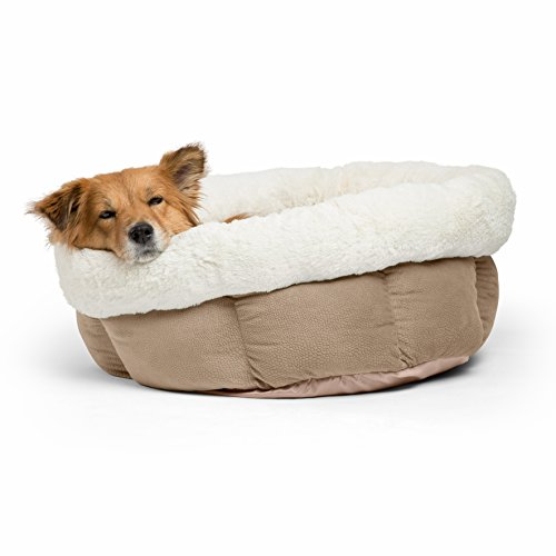 Best Friends by Sheri Cuddle Cup Ilan Cozy Microfiber Cat and Dog Bed in Jumbo Wheat