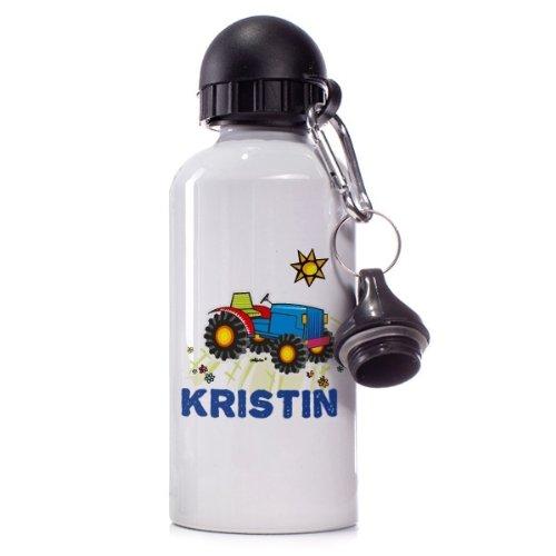 Striefchen® Trinkflasche Motiv: Traktor Name: Kristin