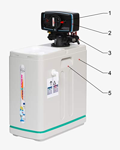 Water2Buy W2B110 Water Softener | Timer Control Softener for 1-4 People | 100% Limescale Removed