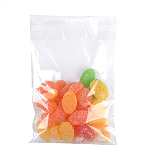 Outus 300 Pieces (5 x 7 Inches) Clear Cellophane Bags Self-Adhesive Sealing Treat Bags OPP Plastic Bag for Candy, Soap, Cookie, Valentine Chocolates