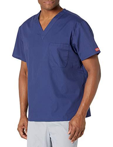 Dickies Herren Signature V-Neck Scrubs Shirt - Blau - Mittel