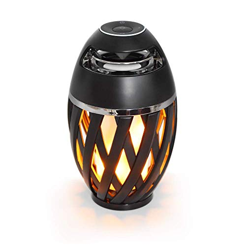 LED Flame Speaker, Inlucking Flame Atmosphere Outdoor Bluetooth Speaker with Stereo Enhanced Bass Sound, TWS Supported Portable Wireless Speaker, LED Flickers Table Lamp BT4.2 for iPhone Ipad Android