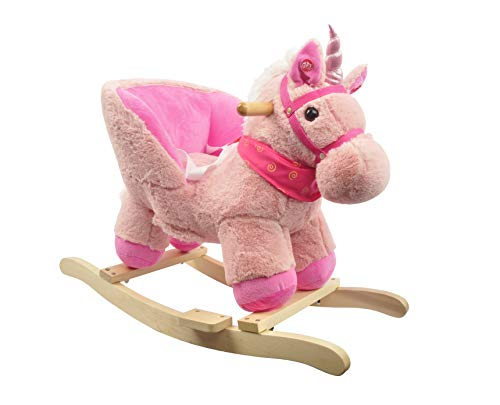Linzy 21' Unicorn Baby Rocker W/Safety Belt