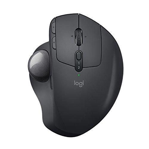 Logitech MX Ergo Fortschrittlicher kabelloser Trackball/Maus (geeignet für PC, Mac und Windows)