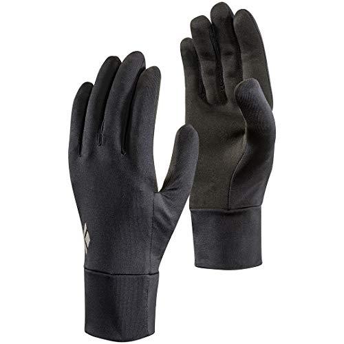 Black Diamond Lightweight Screentap Handschuhe Touchscreen geeignet / Warmer, leichter Allround Handschuh für Skitouren, zum Laufen oder Wandern / Unisex, Black, Größe: L