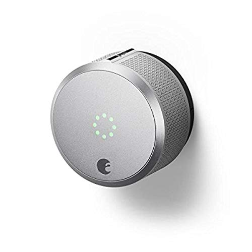August AUG-SL-CON-S03 Silver Smart Lock Pro, 3rd Generation-Dark Gray, Apple Home Kit Compatible and...