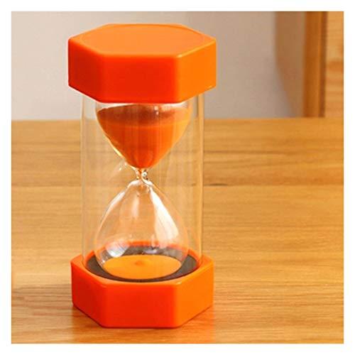 JINSUO NWXZU Sanduhr, Sanduhr Timer, Kunststoff und Glas Material, Hexagonal Eieruhr, Hauptküche Bürodekoration schönes Geschenk (Size : Orange)