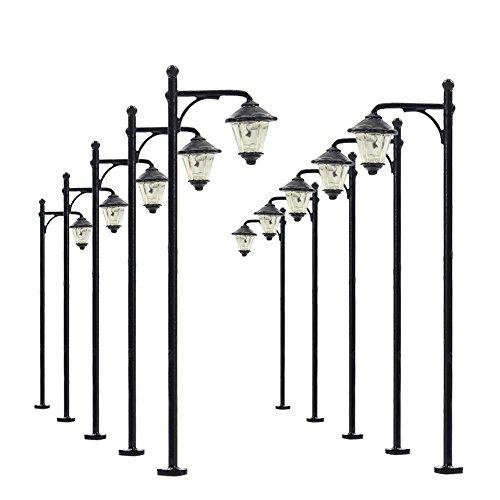 LYM10 10 pcs Model Railway Bulb Lamppost Lamps 6cm Street Lgihts HO Scale 12V New