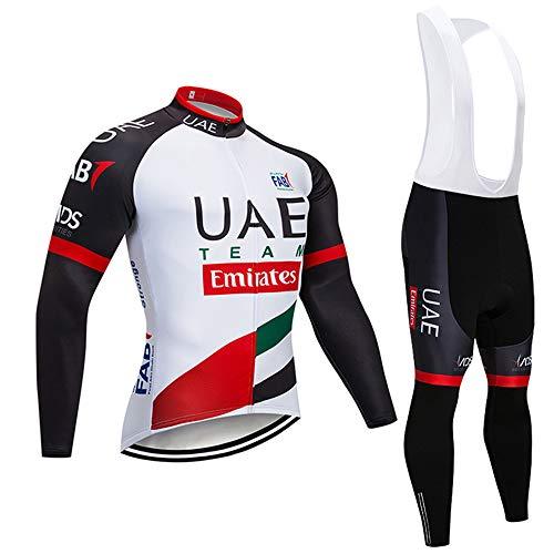 Completo Ciclismo Lunga Abbigliamento Ciclismo Uomo Traspirante con Pantaloni Set Maglia MTB per Completi Ciclismo Squadre Primavera (Opzionale)