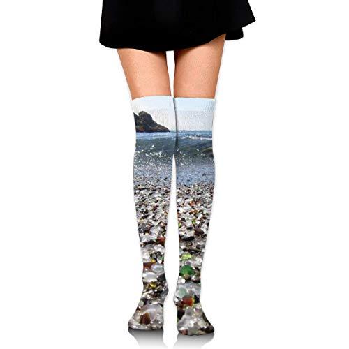 Calcetines transpirables hasta la rodilla deportivos deportivos largos calcetines antideslizantes