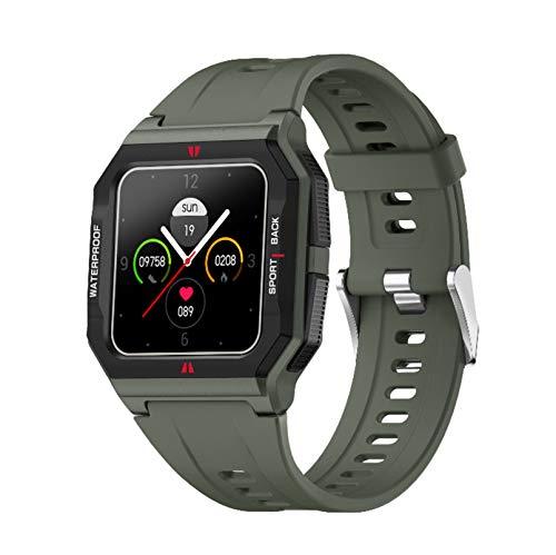 Reloj inteligente Pulsera inteligente táctil de pantalla completa de 1.3 pulgadas La información de monitoreo de frecuencia cardíaca recuerda las llamadas entrantes para rechazar el reloj int(Color:A)