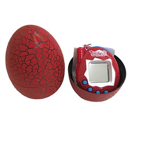 Yidarton Electronic Pets Child Toy Key Digital Pets Tumbler Dinosaur Egg Virtual Pets (Red)