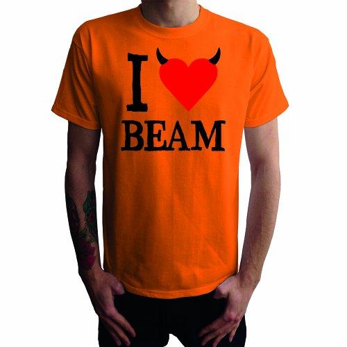 Je ne aime pas faisceau Mens T-shirt, orange, XXL