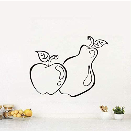 Fruta Creativa Manzana Pera Patrón De Alimentos Cocina Etiqueta De La Pared Vinilo Autoadhesivo Diy Cocina Decoración Papel Pintado 44 * 34Cm