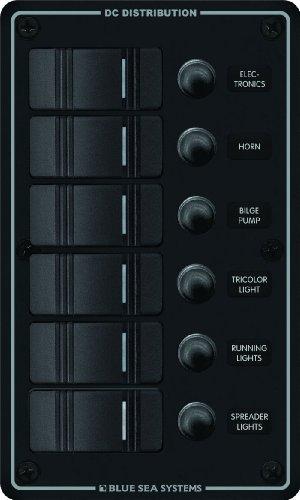 Water Resistant Circuit Breaker Panel 6 Position-Black