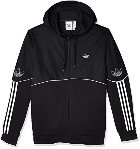 adidas Herren Outline FZ FT Sweatshirt, Black, 2XL