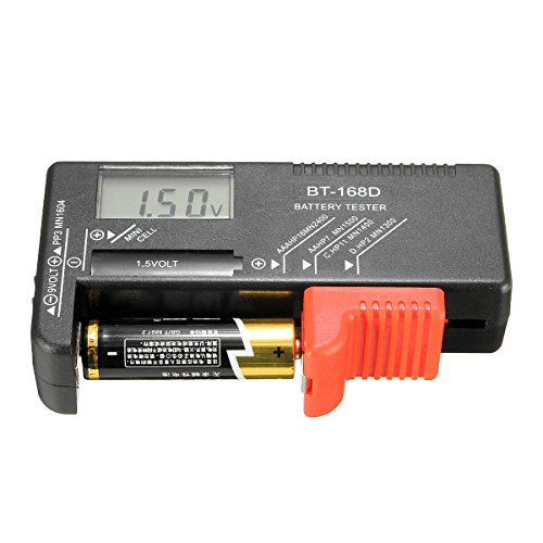 Review Of BT-168D Universal AA/AAA/C/D/9V/1.5V LCD Display Battery Tester Button Cell Volt Checker