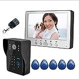 Sistema De Videoportero HD Monitor LCD De 7' (17,8 Cm) Cámara Orientable Función De Grabación Automática Visión...