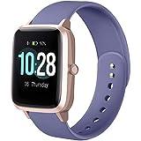 Hamily Armband Kompatibel für Apple Watch 38mm 40mm, Weiche Silikon Wasserdicht Ersatz...